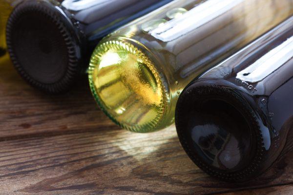 Forma del culo de las botellas de vino